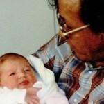 Roland and his newborn, 1990
