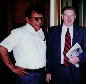 Roland and Senator Conrad Burns, 1997