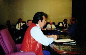 Roland testifying before MN Attorney General Mike Hatch, 2000
