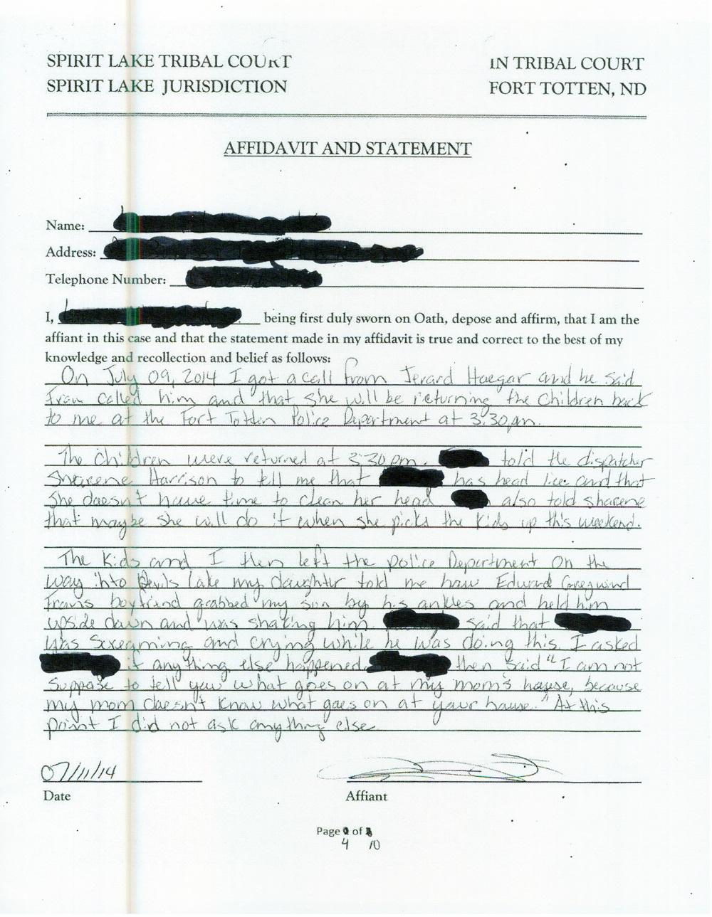 10 Page Affidavit July 11 2014 - page 4