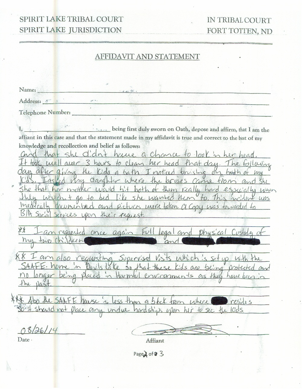 Bundy's August 27 Statement - page 2 of 3
