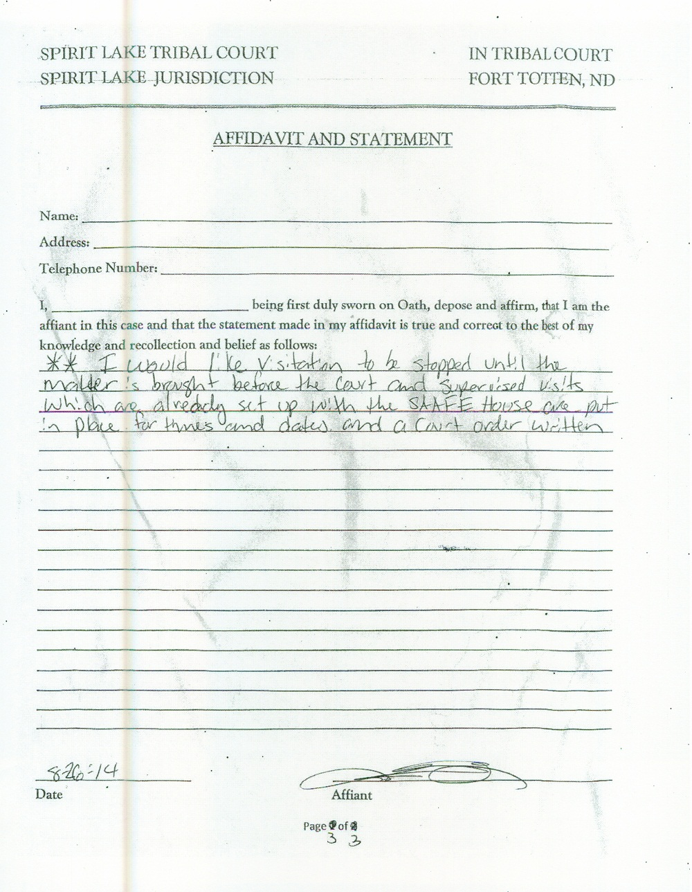 Bundy's August 27 Statement - page 3 of 3