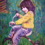Little girl on trike